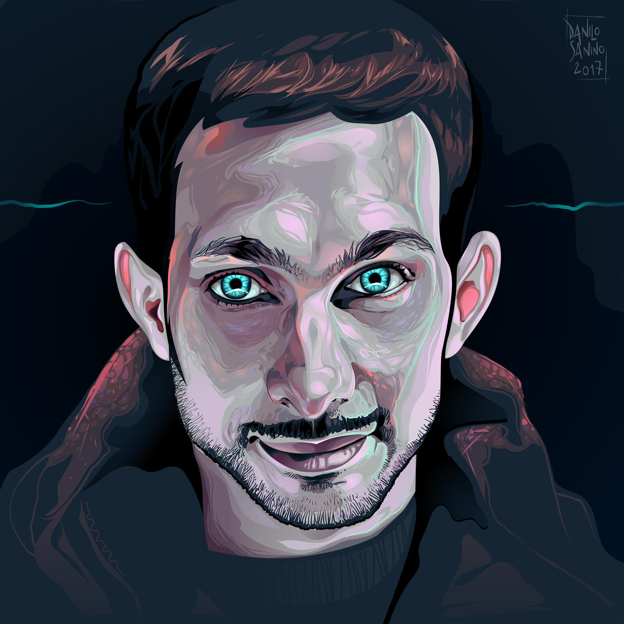 - Dynamo magician - Vector portrait