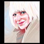 - Sia - Vector portrait