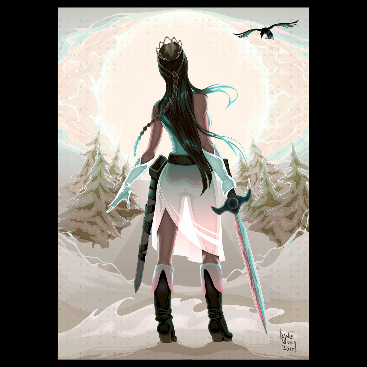- Princess warrior in the wood -