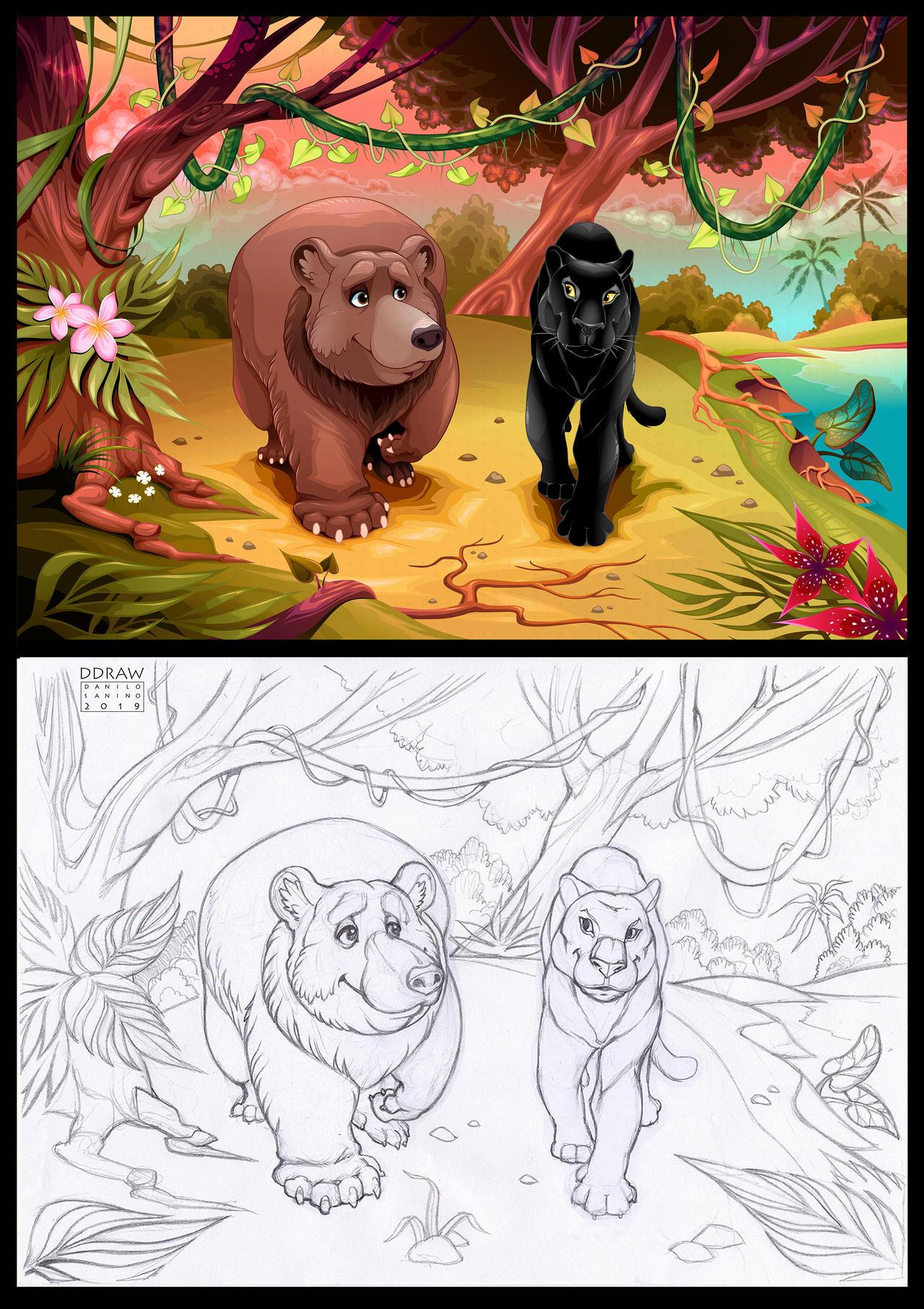 Spirit Animals - Vector illustration