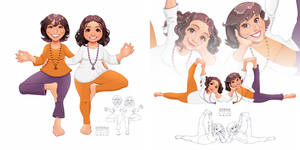 Caricatures of my yoga teacher friends :)