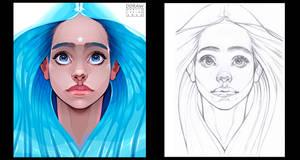 HOPE - Vector illustration + Sketch