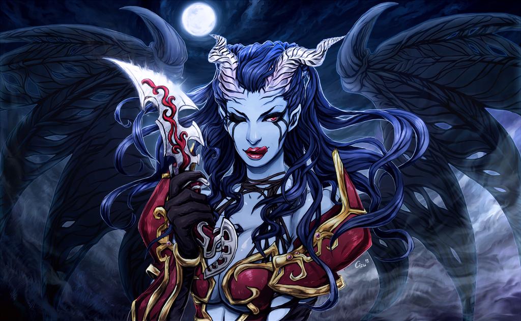 Dota2 Akasha the Queen of Pain (wallpaper) by Cizu