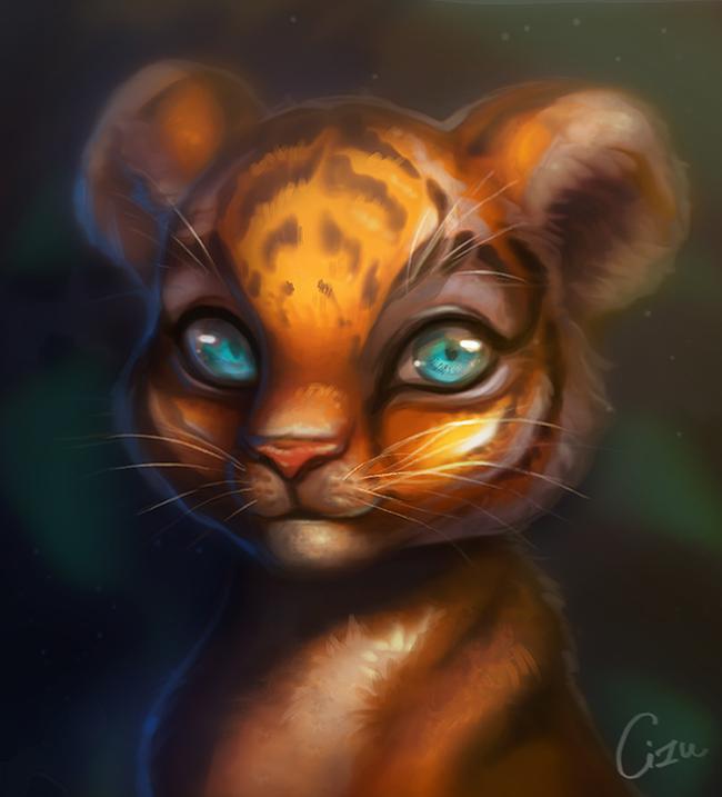 Tiger Cub by Cizu