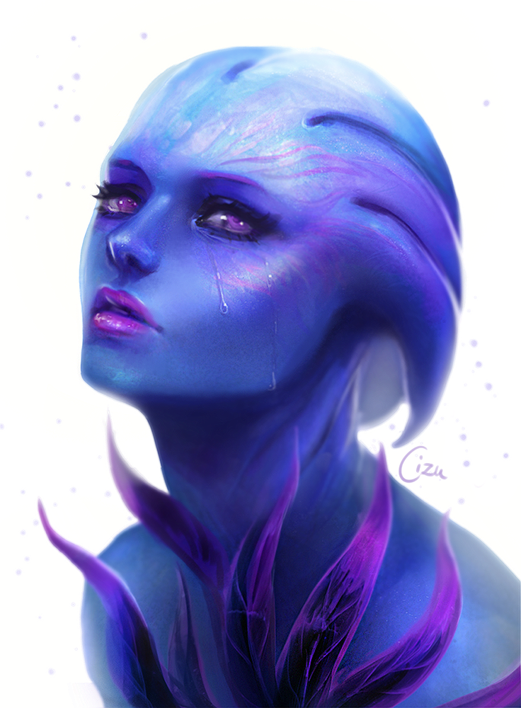 Asari - Mass Effect by Cizu
