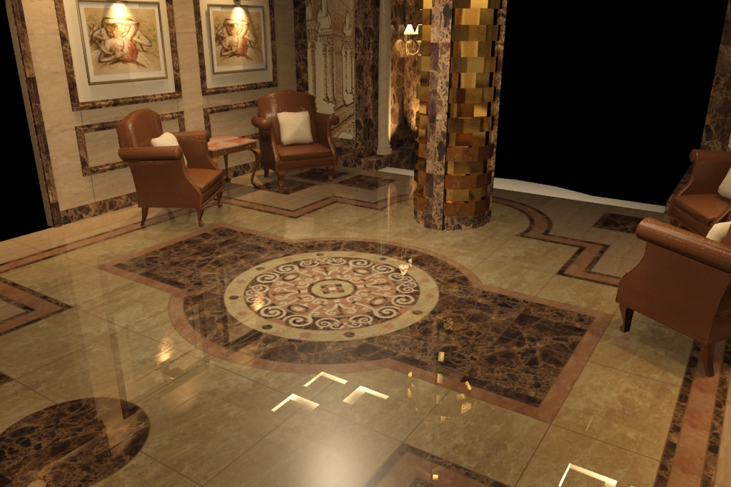 Residential Building Entrance Lobby Interior D By
