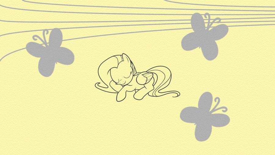 Fluttershy Lines by iamcommando13
