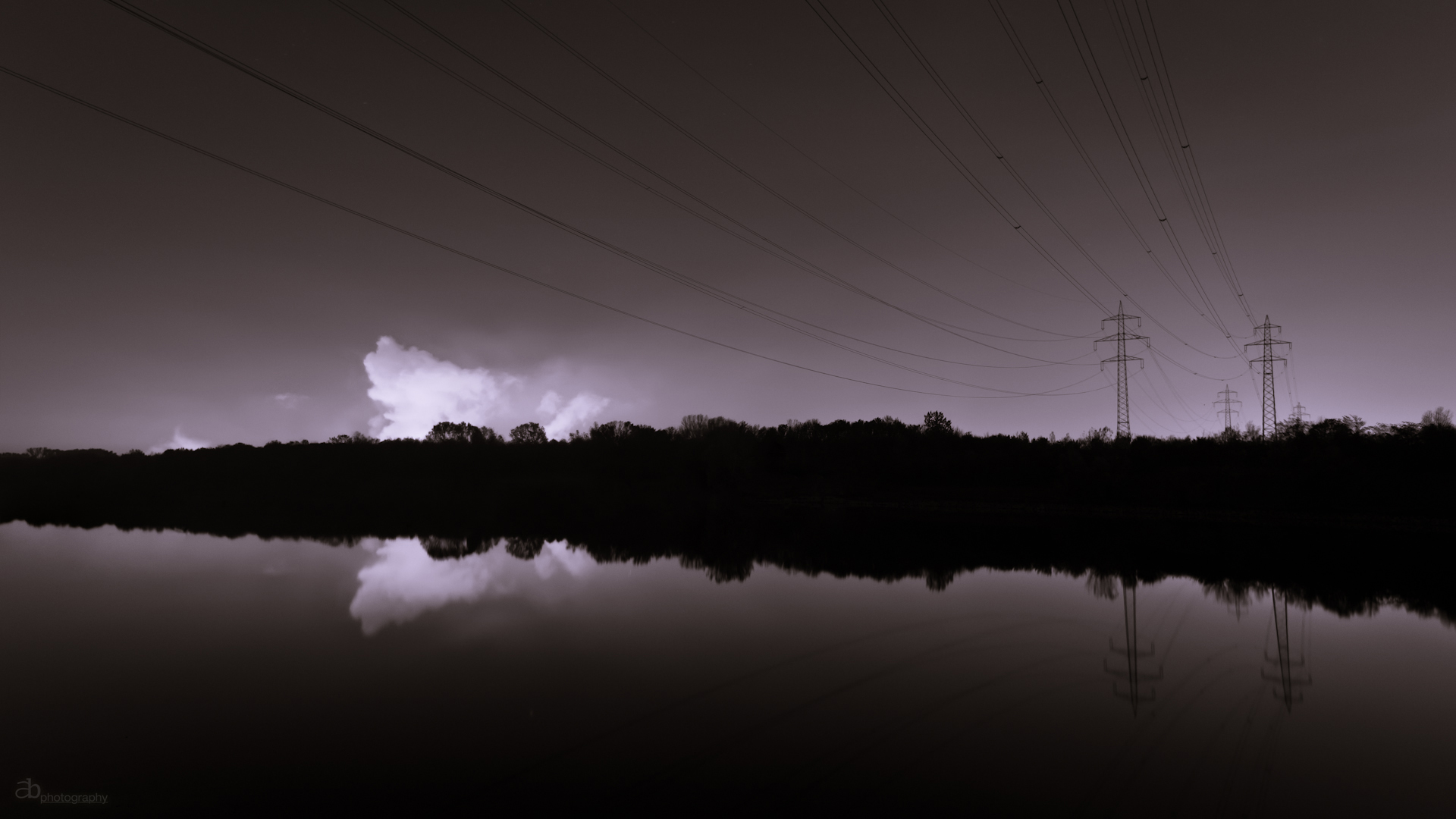 Power lines - Wallpaper by cluster5020