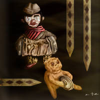 Clown And Monkey Toy