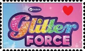 Glitter Force Fan Stamp