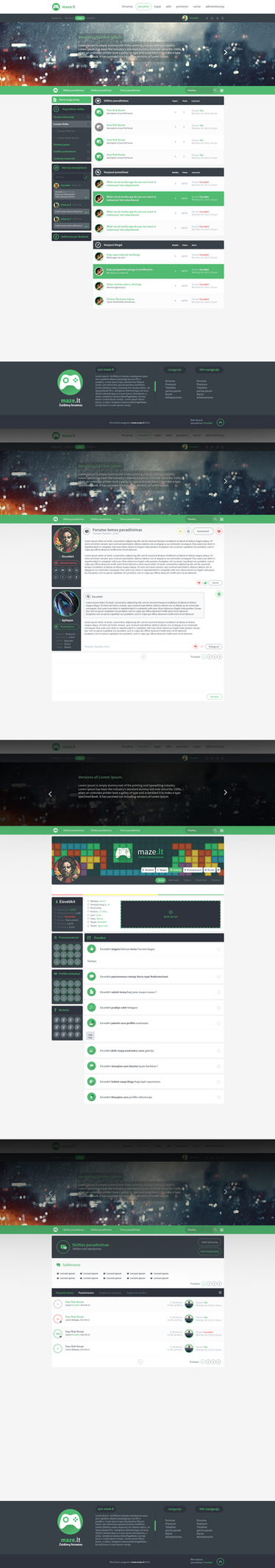 Maze.lt Web design by iEimiz