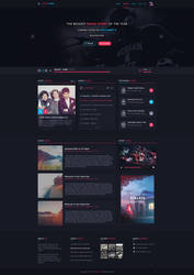Music Web design - for sale