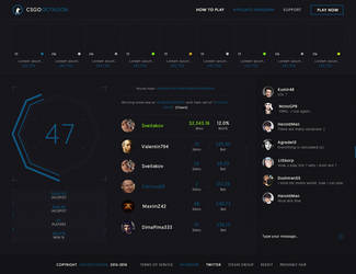 Cs:Go Skins Web Design by iEimiz