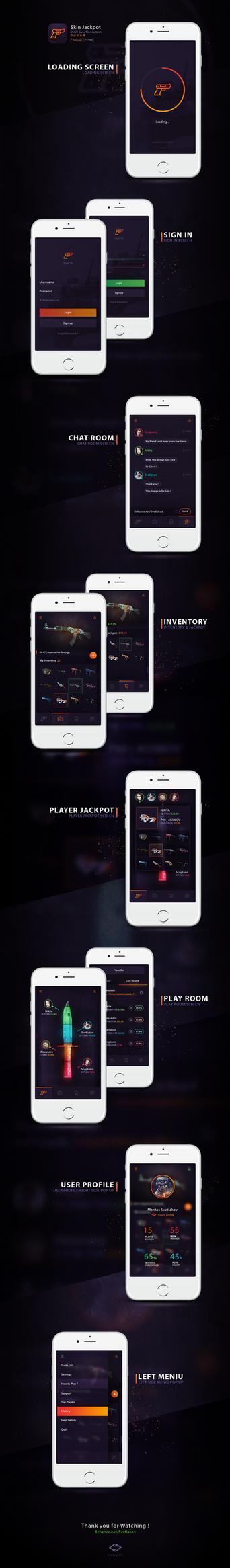 Skin Jackpot Phone App by iEimiz