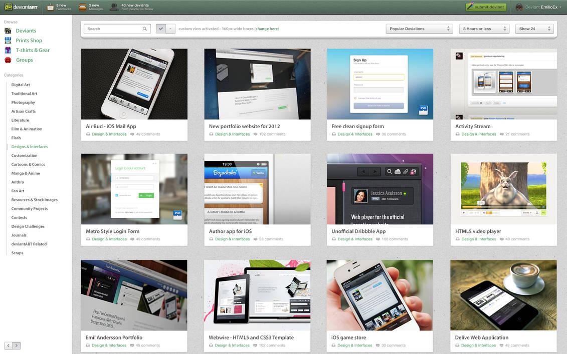 DeviantArt Redesign Concept 2012
