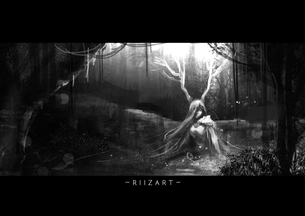 Dark forest by Riizart