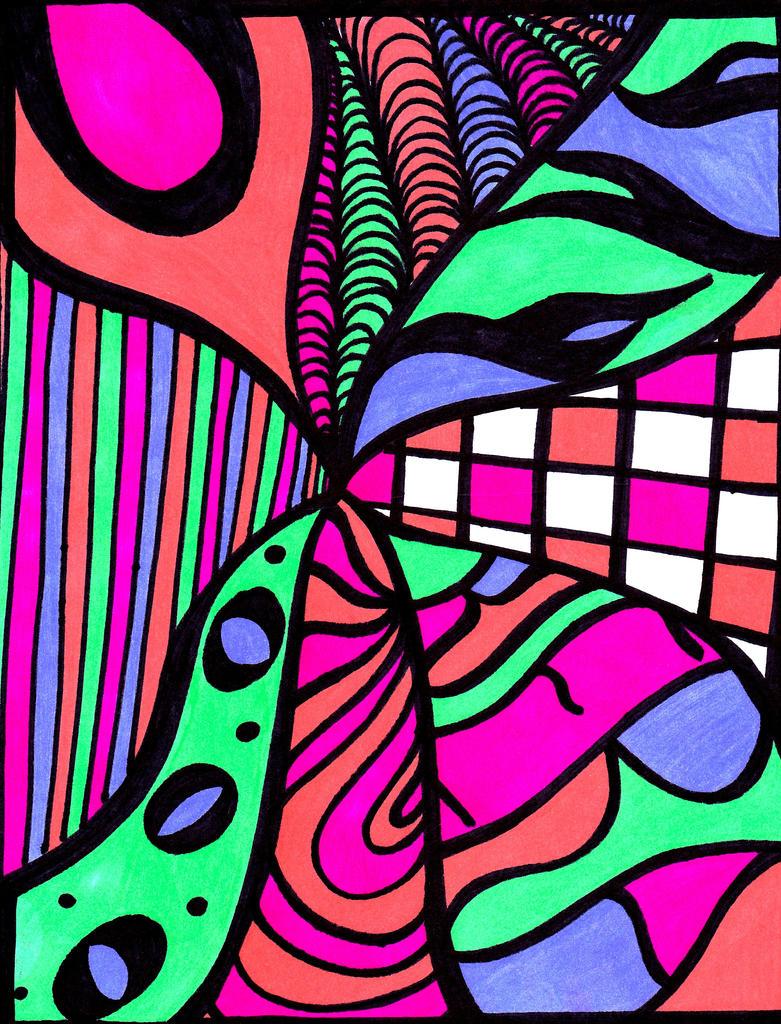 colorful sharpie art by o0sweetangel0o on deviantart