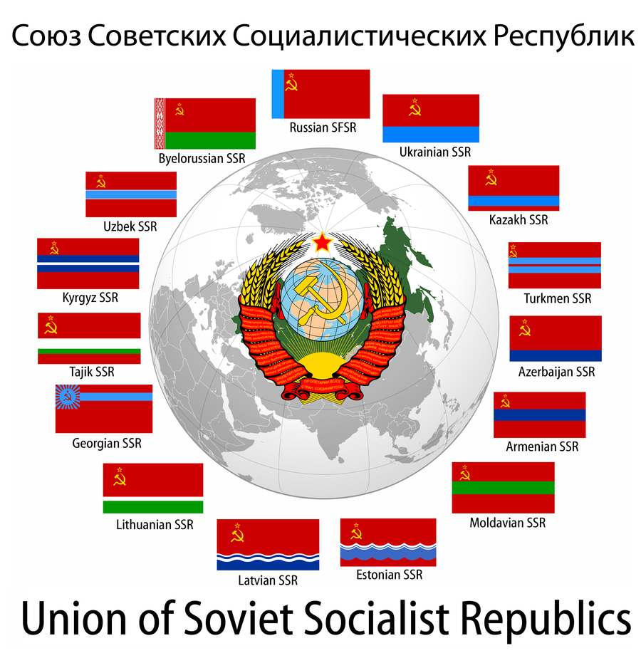 Republics of the Soviet Union by Party9999999