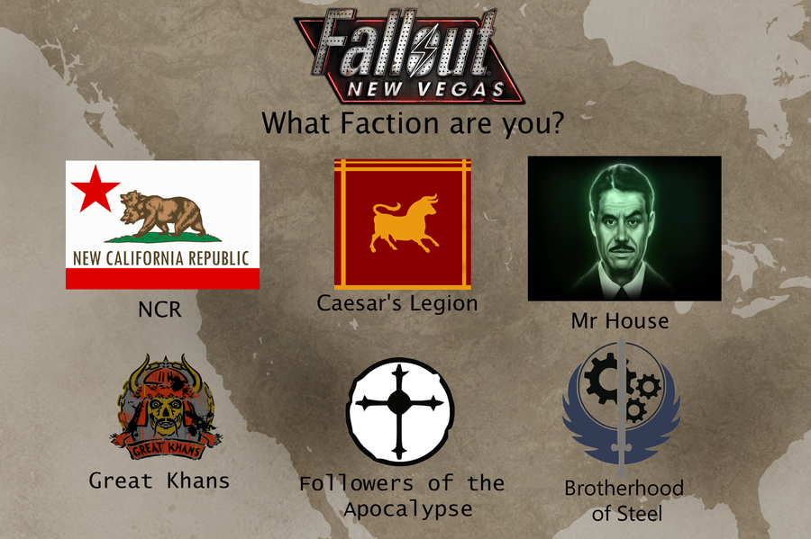 New Vegas Factions By Party9999999