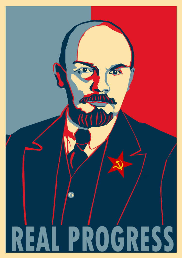 Lenin Progress poster by Party9999999