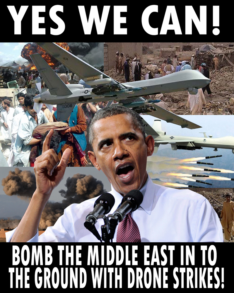 Obamas Drone War By Party9999999