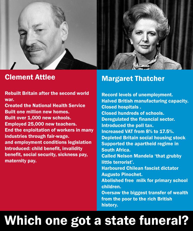 Clement Attlee margaret thatcher