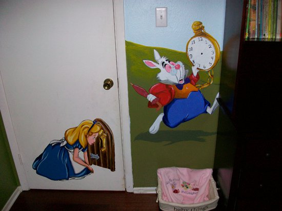 Alice in wonderland mural 01 by wicked on deviantart for Alice in wonderland wallpaper mural