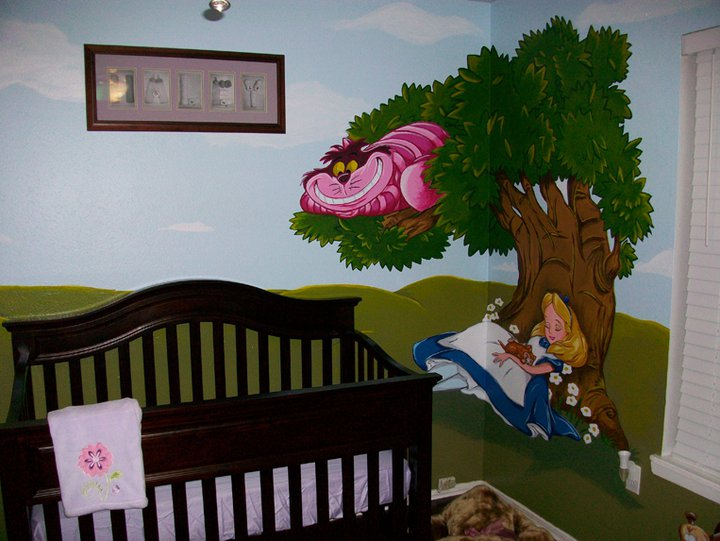 Alice in wonderland mural 03 by wicked on deviantart for Alice in wonderland wallpaper mural