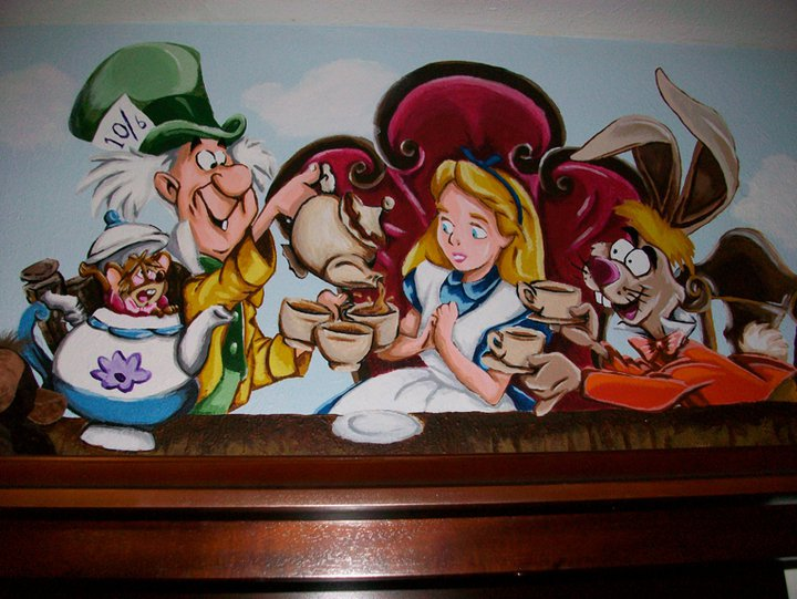 Alice in wonderland mural 04 by wicked on deviantart for Alice in wonderland mural