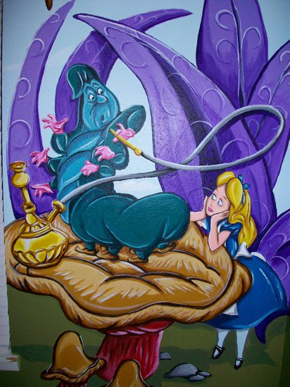 Alice in wonderland mural 05 by wicked on deviantart for Alice in wonderland mural