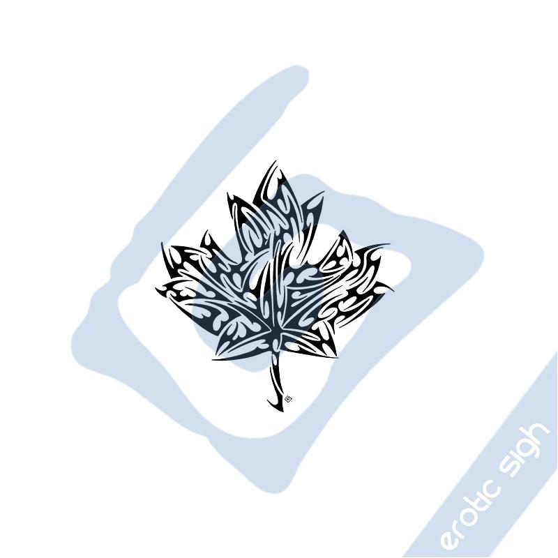 tribal maple leaf by erotic sigh on deviantart. Black Bedroom Furniture Sets. Home Design Ideas