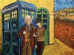 doctor who meets van gogh by Draculasaurus
