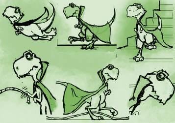 draculasaurus vol II pencils by Draculasaurus