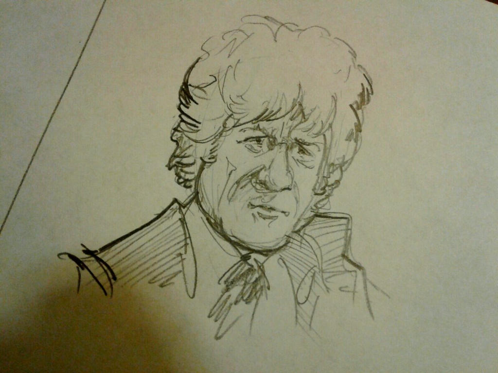 pertwee sketch by Draculasaurus