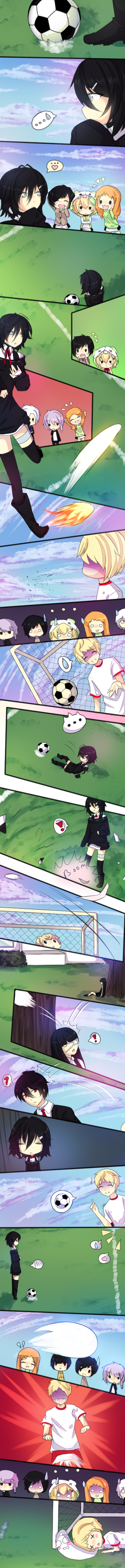 MM: Ruuka's dangerous when playing soccer :'D by Amacchu