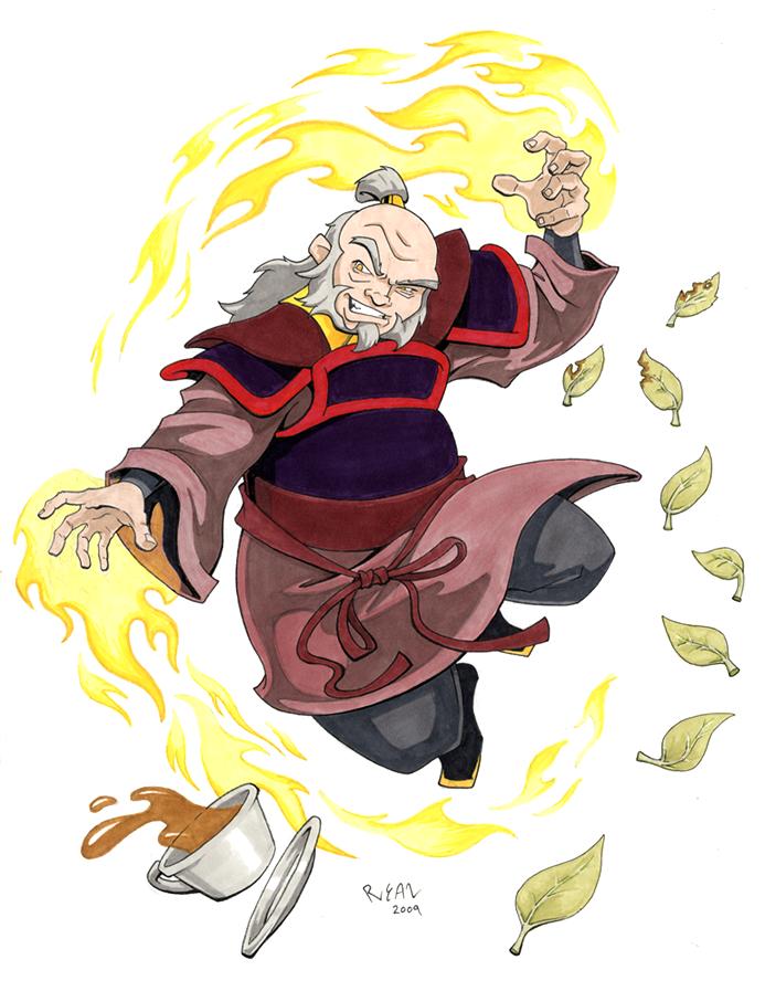 [série animée] Avatar: The Last Airbender (Avatar : Le Dernier Maître de l'Air) Avatar__s_uncle_iroh_by_ryanneal