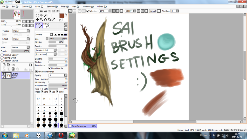SAI Brushes by H4NDS0M3-J4CK