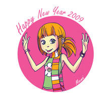 Happy New Year 2009 by Moemai