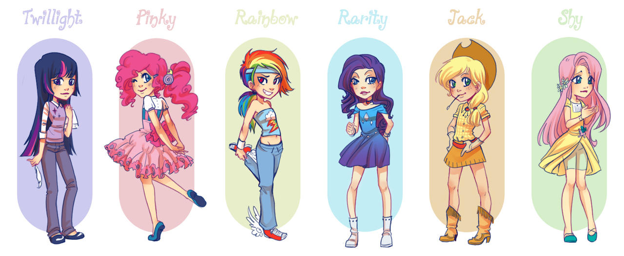 My Little Pony Gijinka by Moemai