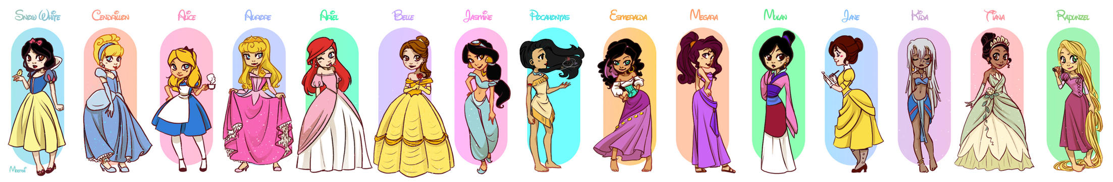 Disney Girls by Moemai
