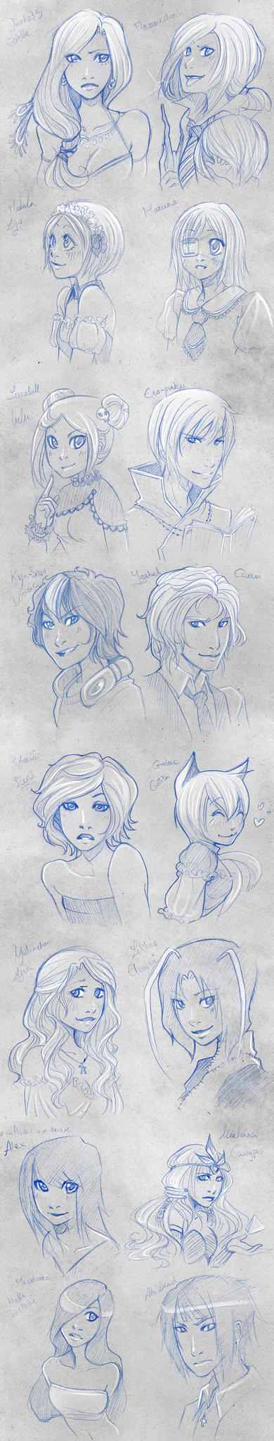 Lottery Sketch Portraits 6 by Moemai