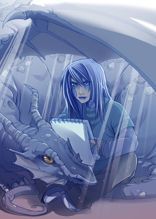 Working with a dragon by Moemai