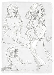 Commission - Cendre character sheet by Moemai