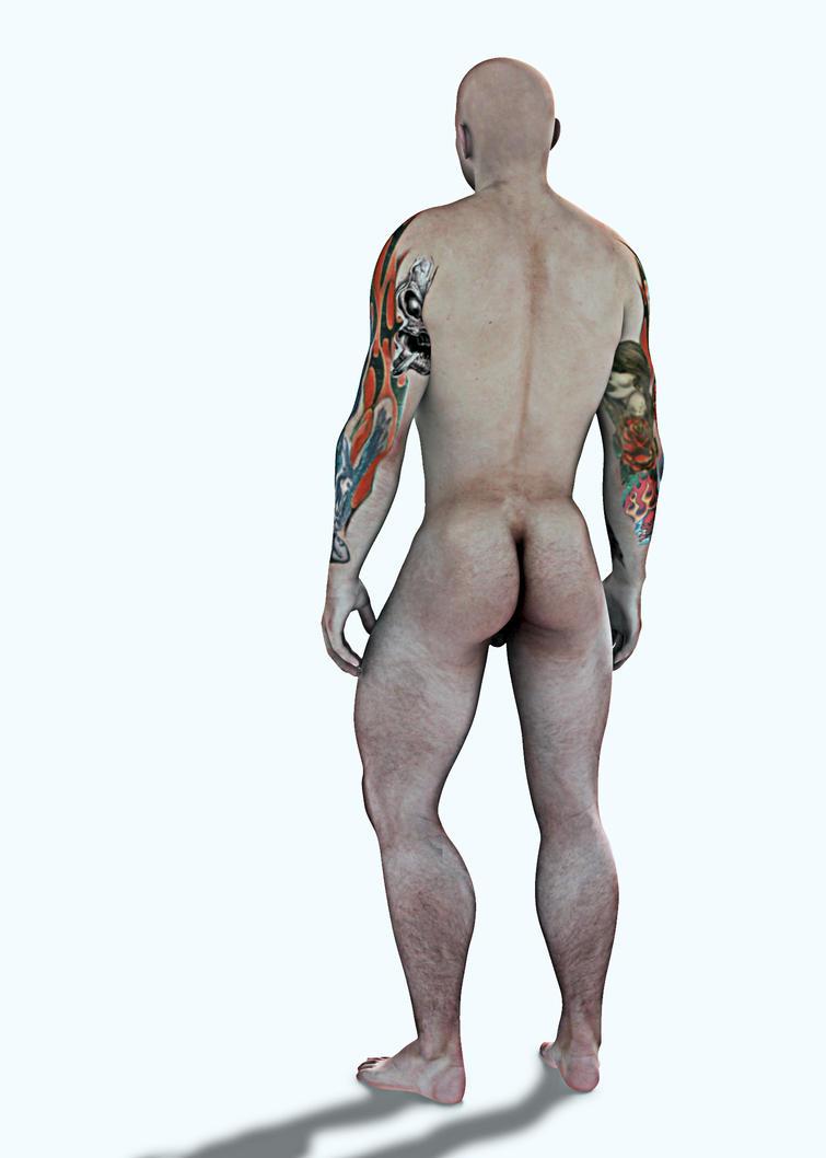 Muscle Man - Lochlan Back by grfk-dsgn