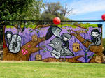 Womubu festival mural.