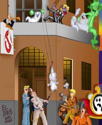 Toontown View - Ghostbuster HQ by BoskoComicArtist