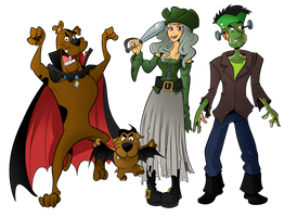 Commission - Scooby Doo Halloween Special by BoscoloAndrea