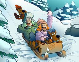 Commission - Scooby Doo - Winter Ed by BoscoloAndrea