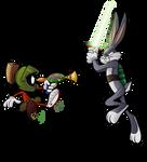 25 Looney of Christmas 2 - Marvin 'n Bugs