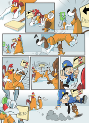Commission - Too Many Chickens across the Road pt2
